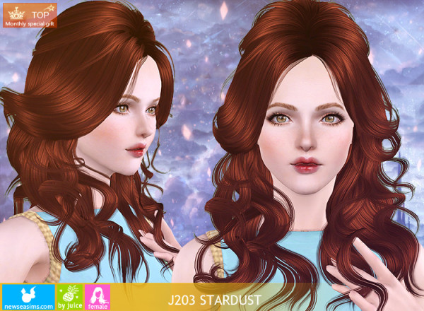 Curly J203 Stardust hairstyle by Newsea for Sims 3