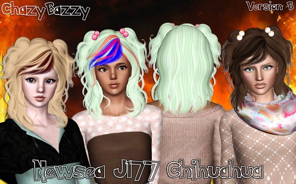 Newsea J177 Chihuahua hairstyle retextured by Chazy Bazzy for Sims 3