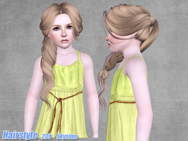 Tornado side ponytail hairstyle 239 by Skysims by The Sims Resource for Sims 3