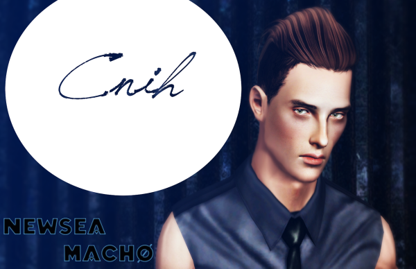 Newsea`s Macho hairstyle retextured by Thecnihs for Sims 3