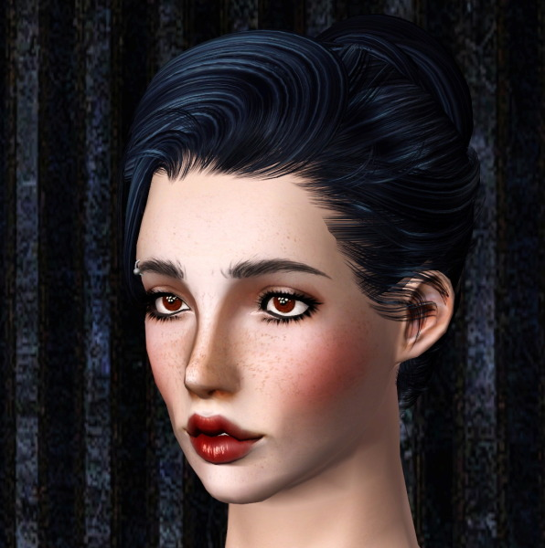 Newsea`s Sandra hairstyle retextured by Thecnihs for Sims 3