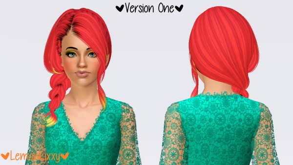 Skysims 235 hairstyle retextured by Lemonkixxy`s Lair for Sims 3