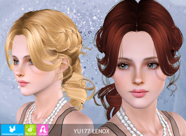 Hairstyle YU177 Lenox by NewSea for Sims 3