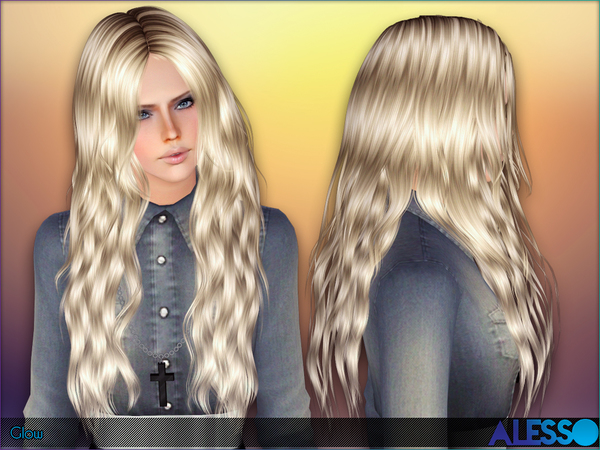 Glow hairstyle for her by Alesso by The Sims Resource for Sims 3
