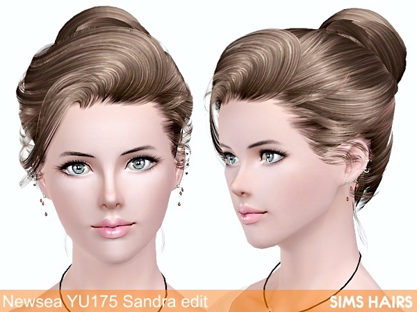 Newsea YU175 Sandra retexture by Sims Hairs for Sims 3