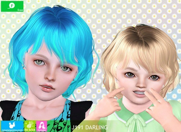 J191 Darling hairstyle by NewSea for Sims 3