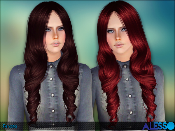Renata hairstyle by Alesso by The Sims Resource for Sims 3