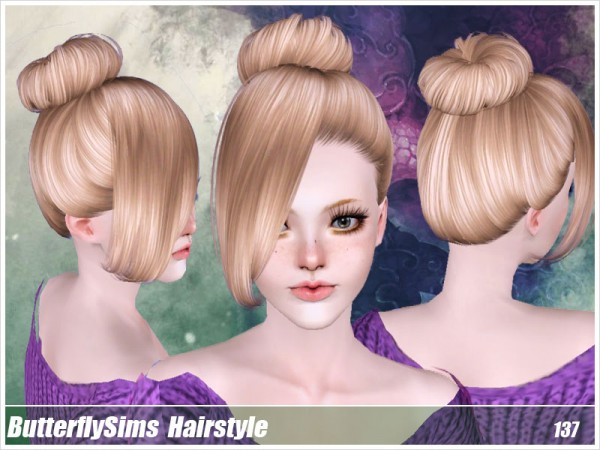 Hairstyle 137 by Buttefly by Butterfly Sims for Sims 3
