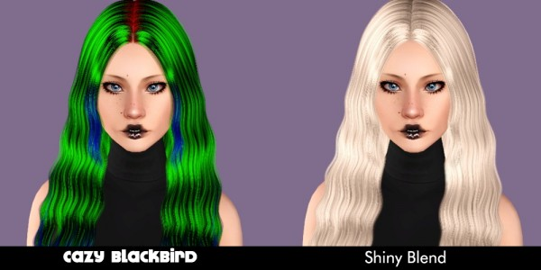 Cazy`s hairstyle retextured by Plumb Bombs for Sims 3