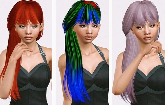 Butterflysims 131 hairstyle retextured by Beaverhausen for Sims 3