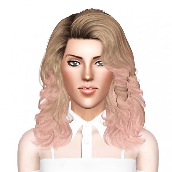 Cazy`s Porcelain heart hairstyle retextured by July Kapo for Sims 3