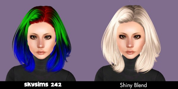 Skysims hairstyle retextured by Plumb Bombs for Sims 3