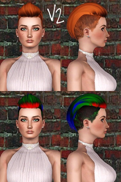 Newsea J207 Macho hairstyle retextured by Chantel Sims for Sims 3