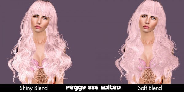Peggy`s 886 hairstyle edited by Plumb Bombs for Sims 3