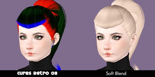 Curbs hairstyle retextured by Plumb Bombs for Sims 3