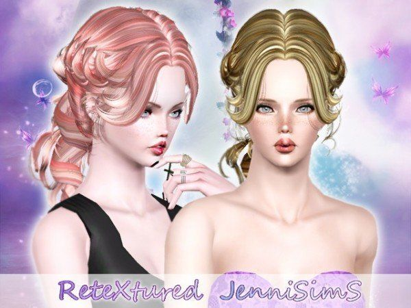 Newsea`s Lenox hairstyle retextured by Jenni Sims for Sims 3