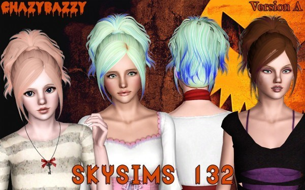 Skysims 132 hairstyle retextured by Chazy Bazzy for Sims 3
