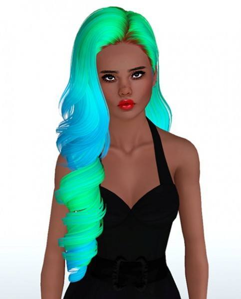 Skysims 244 hairstyle retextured by Monolith Sims for Sims 3