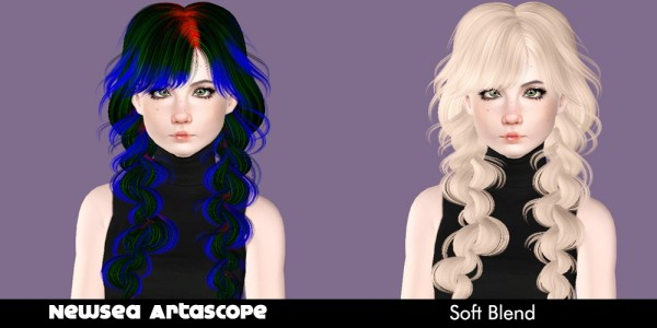 Newsea`s hairstyle retextured by Plumb Bombs for Sims 3