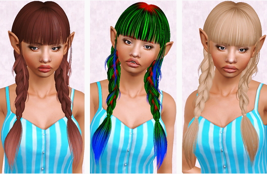 Butterflysims 134 hairstyles retextured by Beaverhausen for Sims 3