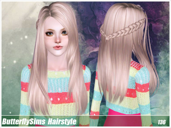 Hairstyle 136 by Butterfly Sims for Sims 3