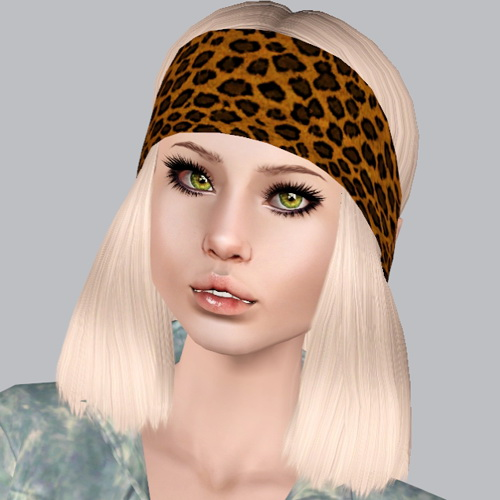 Modish Kitten Woodstock hairstyle retextured by Plumb Bombs for Sims 3