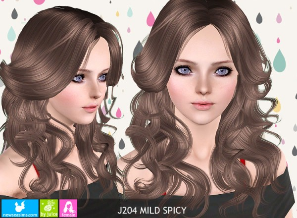 J204 Mild Spicy hairstyle by NewSea for Sims 3