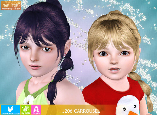 J206 Carrousel hairstyle by NewSea for Sims 3