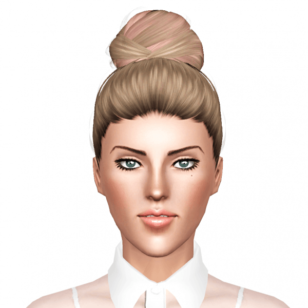 Geisha`s Genesis hairstyle retextured by July Kapo for Sims 3