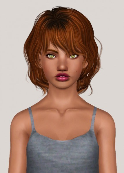 Newsea`s J191 Darling hairstyle retextured by Someone take photoshop away from me for Sims 3
