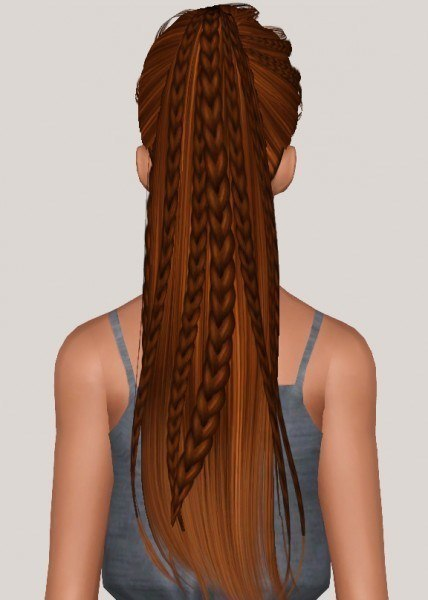 Skysims 243 hairstyle retextured by Someone take photoshop away from me for Sims 3