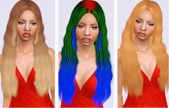 Cazy`s Blackbird hairstyle retextured by Beaverhausen for Sims 3