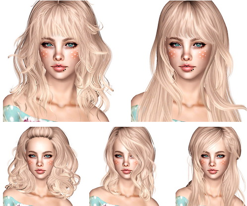Newsea Hair Dump part 2 by Magically Delicious for Sims 3