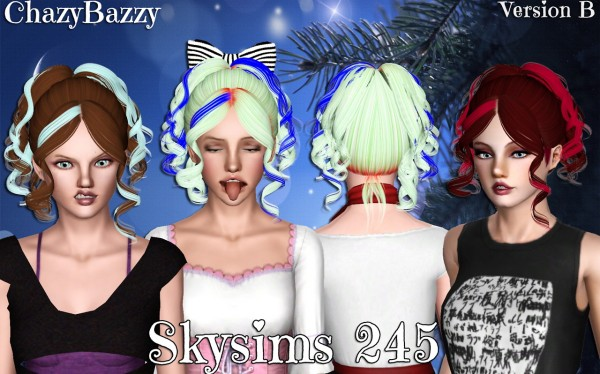Skysims 245 hairstyle retextured by Chazy Bazzy for Sims 3