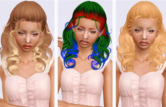 Newsea`s Fingertips hairstyle retextured by Beaverhausen for Sims 3