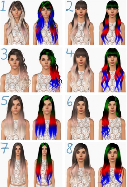 Alesso`s hairstyles retextured by Plumbombshell for Sims 3