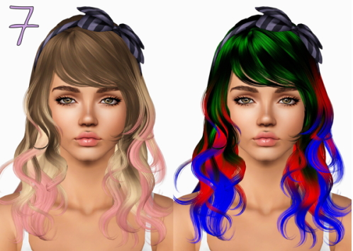 Newsea`s hairstyles retextured by Plumbombshell for Sims 3