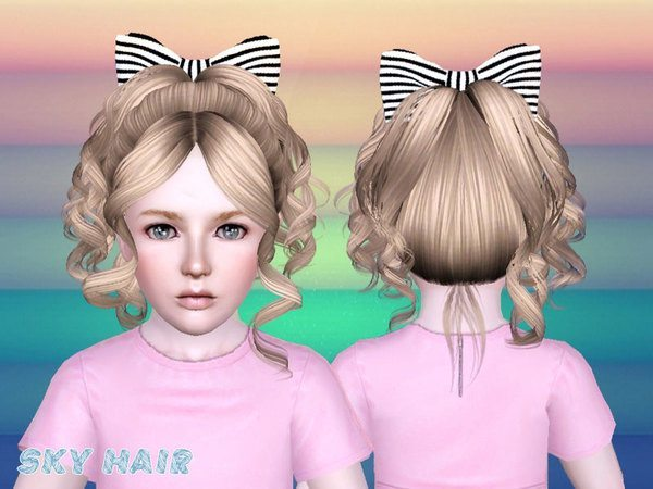 Hairstyle 245 hairstyle set by SkySims for Sims 3
