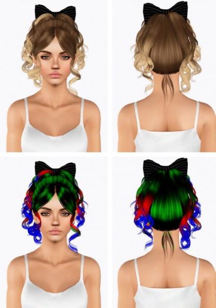 Skysims 245 hairstyle retextured by Plumbombshell for Sims 3