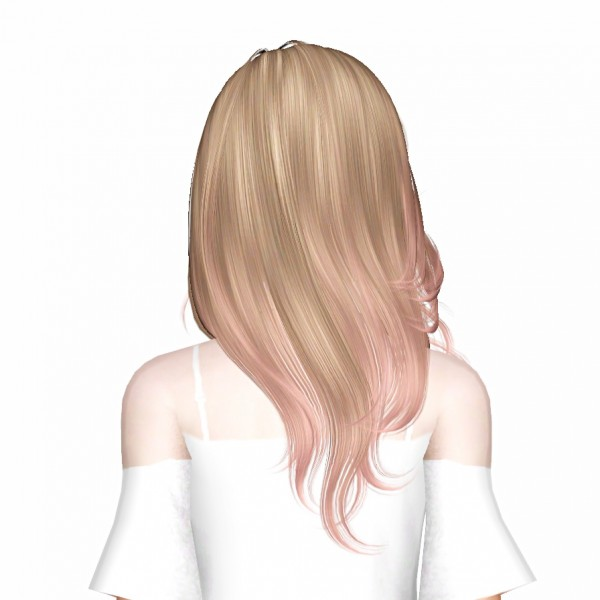Newsea's More Than Honey hairstyle retextured by July Kapo for Sims 3