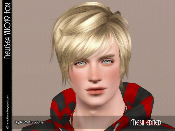 NewSea Yu 019 Fox resized for male by R2M Creations for Sims 3