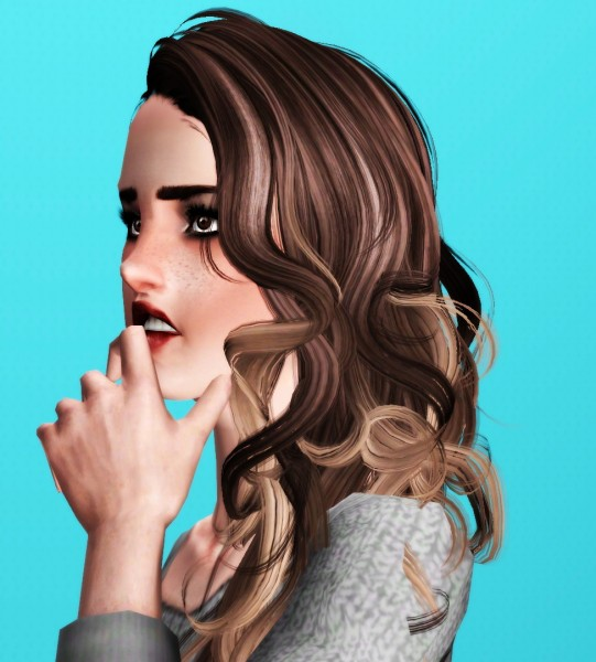 Newsea`s Bittersweet hairstyle retextured by Thecnihs for Sims 3