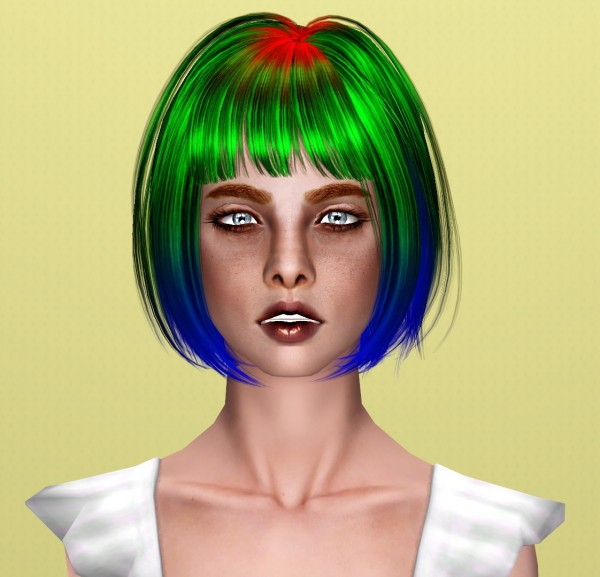 Newsea`s Physical hairstyle retextured by Thecnihs for Sims 3