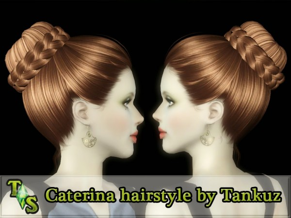 Caterina hairstyle by Tankuz by Tankuz Sims 3 for Sims 3