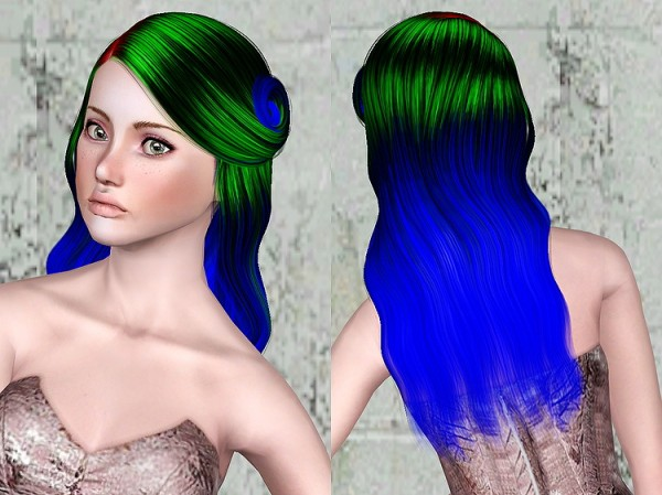 Cazy`s 151 Leah hairstyle retextured by Chantel Sims for Sims 3