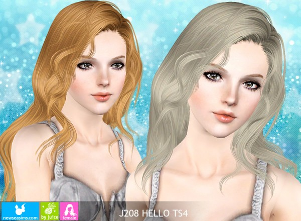 J208 Hello hairstyle by NewSea for Sims 3