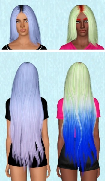 Alesso`s Galaxy hairstyle Retextured by Electra Heart Sims for Sims 3