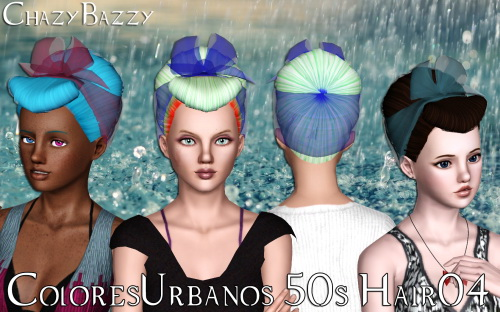 ColoresUrbanos 50s Hair 04 by Chazy Bazzy for Sims 3