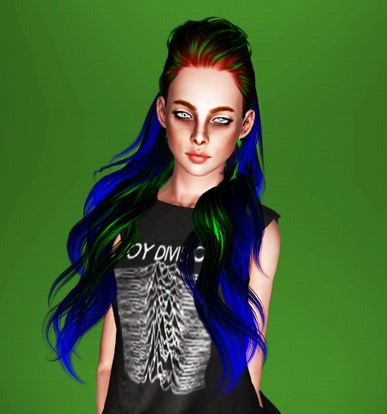 ButterflySims 139 hairstyle retextured by Thecnihs for Sims 3