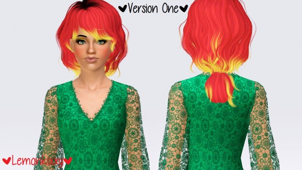 Newsea`s Darling hairstyle retextured by Lemonkixxy`s Lair for Sims 3